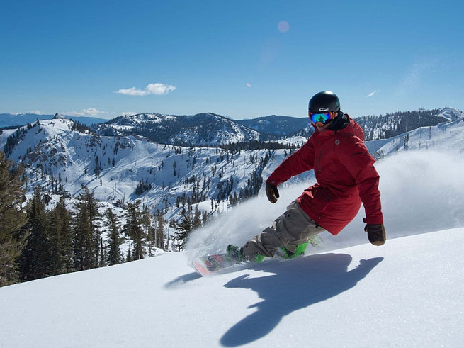 Romi Kristl enjoys fresh snow at Squaw Valley. Photo Credit Squaw Valley PR