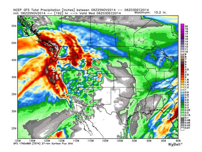 A look at the heavy precipitation headed our way on Sunday.