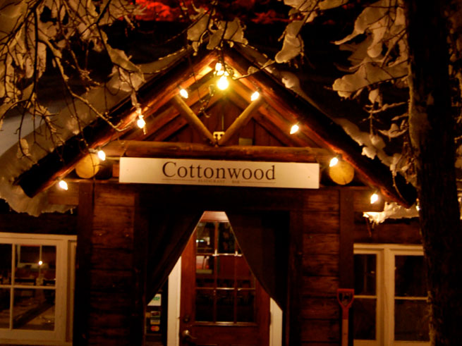 Cottonwood Restaurant Winter