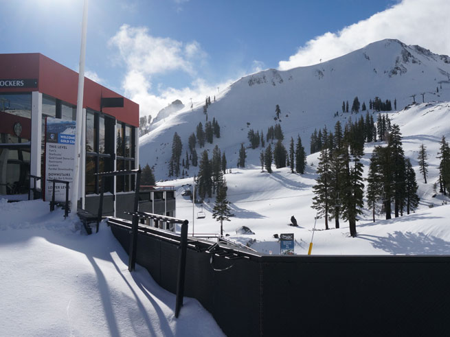 February New Snow Squaw Valley Upper Mountain